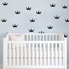 Cartoon Crowns Wall stickers DIY Wall Decals For Kids Room Decor Easy Wall Art Cut Vinyl C11