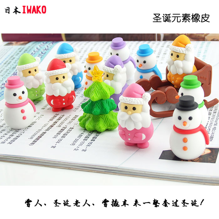 Iwako Eraser 3d Rubber Christmas