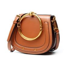 Newest 2018 Women Metal Cloe Bag Brands Designer Messenger Bag Genuine  Leather Casual Small Shoulder Crossbody 9d54677897661