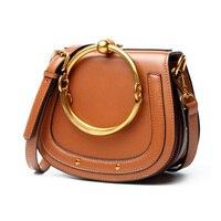 Newest Summer 2017 Geniune Leather Messenger Bags For Women Famous Brands Designer Handbag Casual Mini Shoulder