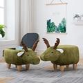 Tempo-limitado apressado de madeira moderna footstool kruk pufe sapatos fezes de madeira maciça veados animais de armazenamento sofá para criativo pequeno