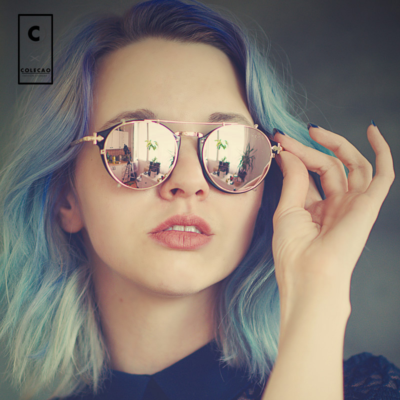 Steampunk Vintage Sunglasses Women Retro Round Glasses Points Constructor Anti Glare Spectacles Frame Oculos De Sol