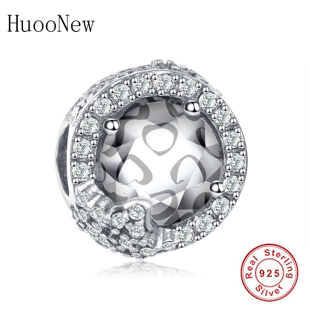 À faire soi-même Lapin Européen CZ Crystal Charm Silver Spacer Beads Fit Collier Bracelet