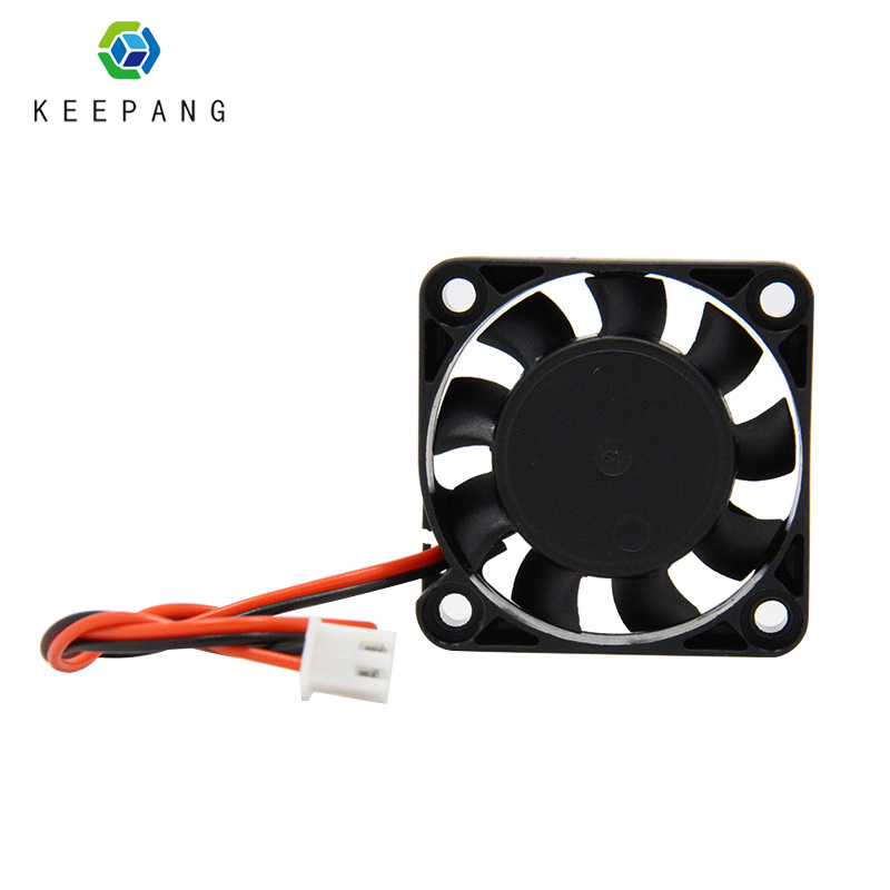Kee Pang 4010 Cooling Fan 1PC 12V 3D Printer Cooling Fan 40*40*10mm With 2 Pin Dupont Wire Cooler heat sink 3D Printers Parts free shipping 3d printer fan cooling fan 4010 24v 40 40 10mm 4010 5 12 24 v brushless dc fans for heatsink cooler cooling