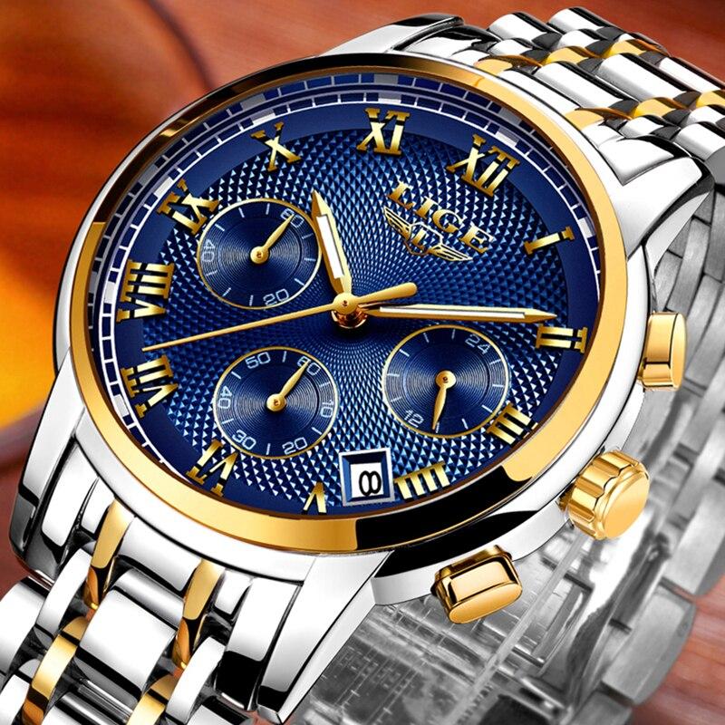 Herenhorloge Top luxe merk LIGE Heren waterdichte quartz horloges - Herenhorloges - Foto 1