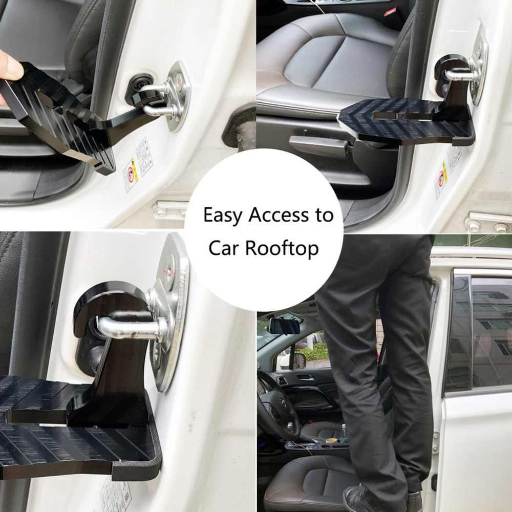 newFoldable Car Vehicle Folding Stepping Ladder Foot Pegs Easy Access to Car Rooftop With Safety Hammer For Car