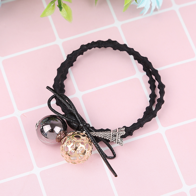 1PCS Gold Hollow Ball Elastic Hair Bands For Girls Bohemian Headband Scrunchy Korean Fashion Kids Hair Accessories For Women