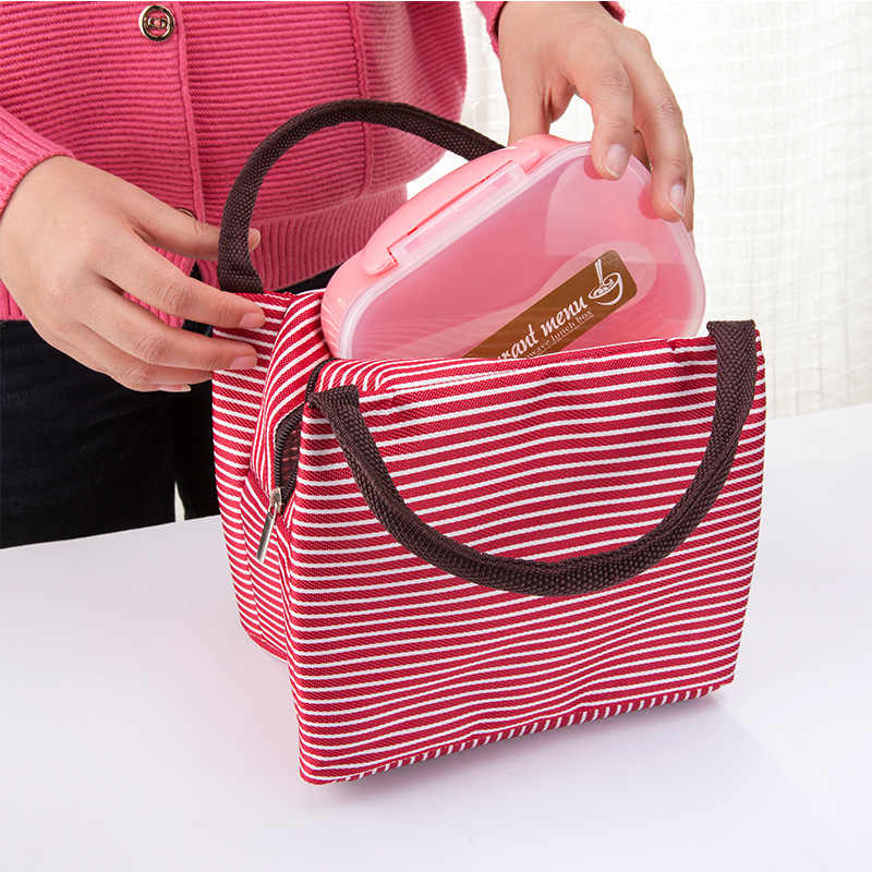 672d7e67389c ... 0680 insulated lunch bag handbag waterproof canvas insulation bag  aluminum foil thickened lunch bag ...