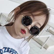 Новинка, дизайнерские Круглые Солнцезащитные очки для детей, Золотая Пчела, детские очки UV400, детские летние очки, милые очки для девочек