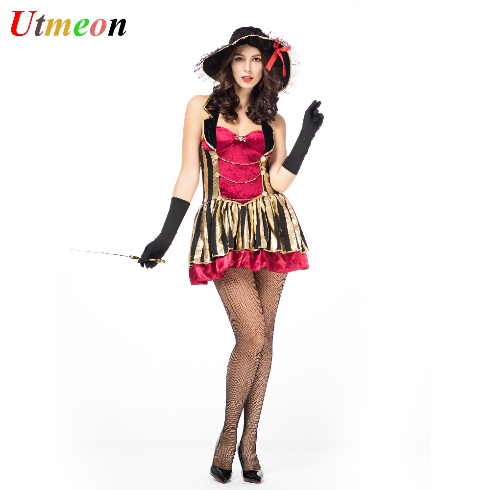 UTMEON  Sexy New Women Pirate Costume Halloween Fancy Party Dress Carnival High quality Adult Pirate Cosplay Costumes