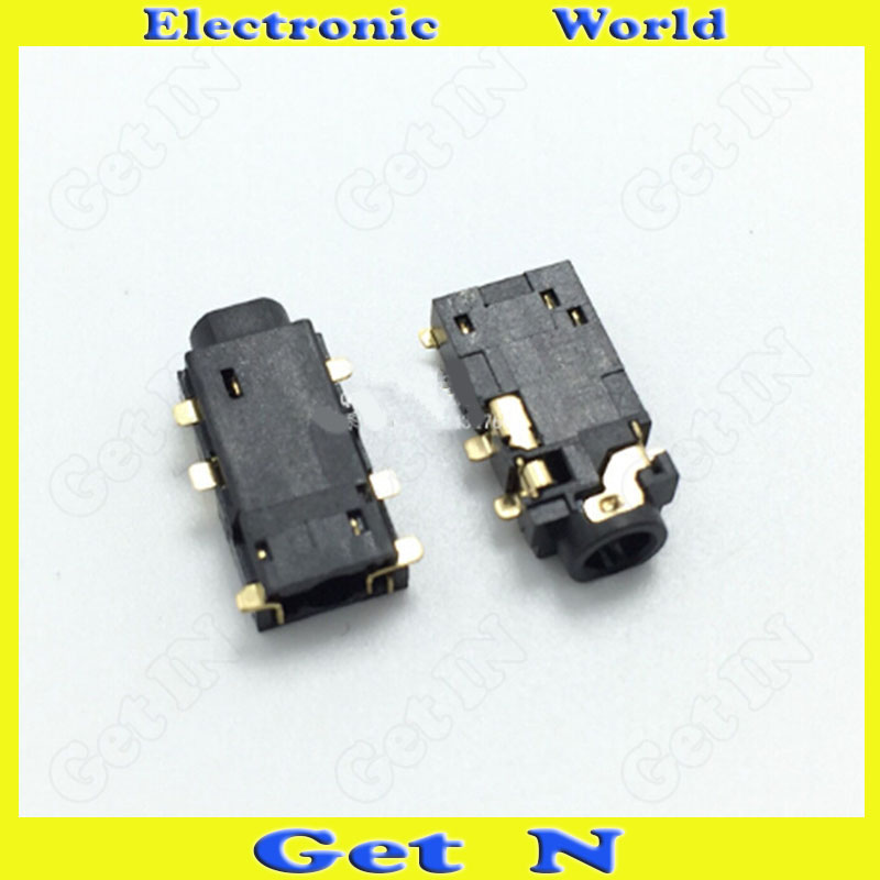 30pcs-1000pcs PJ-265 SMD 6Pins 2.5MM Stereo Auido Video Socket Headphone Connectors for Digital Product PJ265