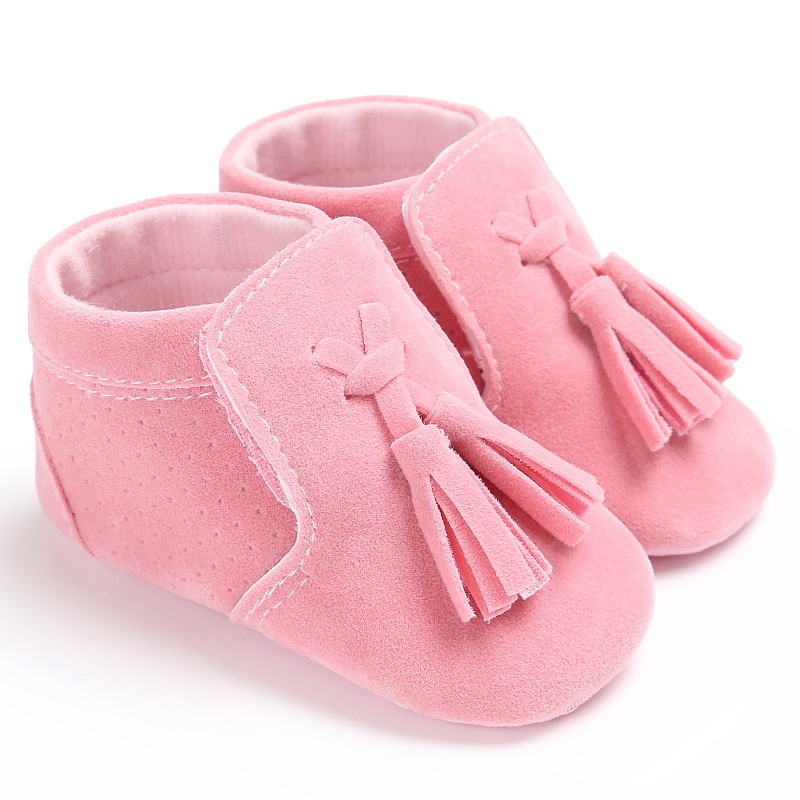New Spring Autumn Infant Newnborn Baby Girl Boy Fashion Suede PU Tassel Toddler Soft Sole Antiskid First Walkers Shoes 0-18M