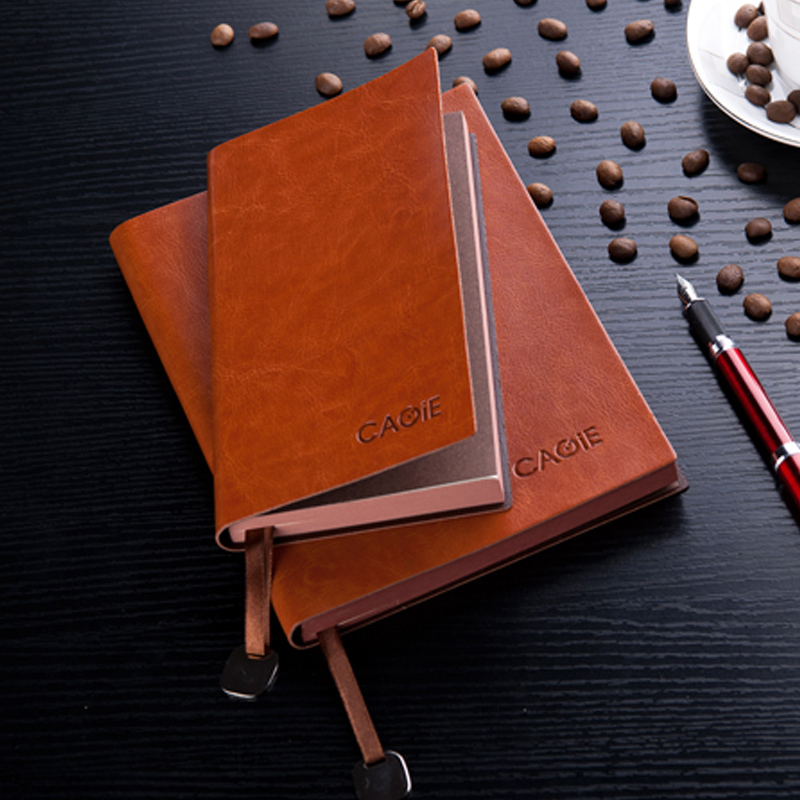 CAGIE Vintage Leather Notebook a5 b5 Filofax Daily Planner a6 Small Office Supplies Dotted Lined Notebook Pocket Agenda Diary vintage a5 b5 lined diary notebook classic business planner notepad memory books children birthday gift elegant