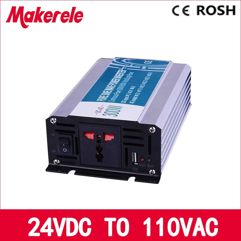 ФОТО Manufacturers direct supply 300w 24v dc to 110v ac off grid pure sine Wave inverter voltage converter solar inverter MKP300-241