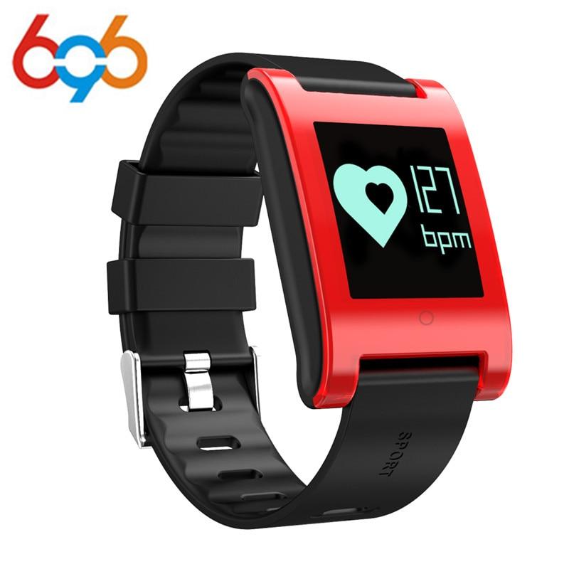 696 Новинка 2017 года DM68 умный Браслет крови Давление монитор сердечного ритма Bluetooth вызова sms-оповещение Smart активности Фитнес Trac