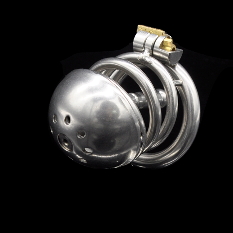 ФОТО 55mm Male Chastity Device  Men Penis Sleeve Urethral Sound Dick Belt Cock Cage Metal Stainless Steel Sex Toy Products