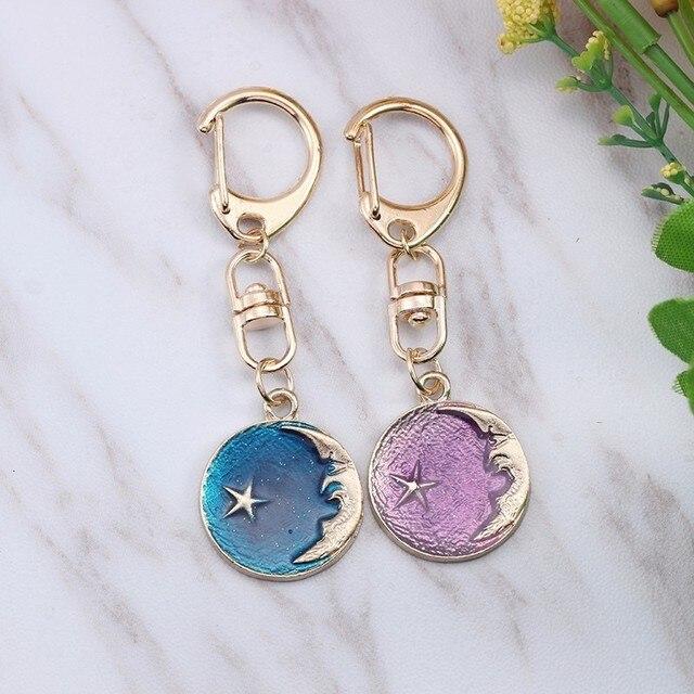 Anime Cartoon Cat Key Chains For Girl Women Cute Fox Mermaid Watermelon Pendants Key Ring Bag Pendant Lovely Jewelry Child Gifts 4