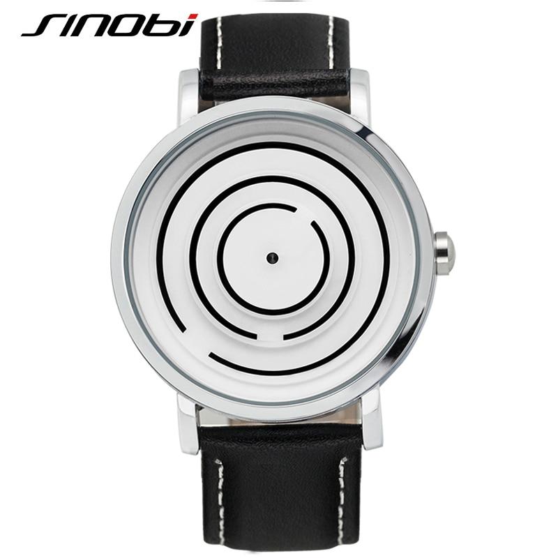 SINOBI 2016 New arrivals Mens Watches Top Brand Luxury Leather Band Quartz Watch Men Fashion Casual