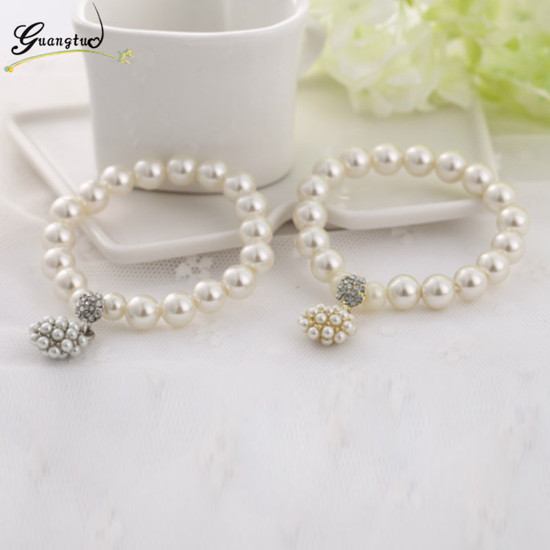 Classic Cute Simulated Pearl Beaded Bracelets For Women Fashion Jewelry Beads Crystal Bracelet & Bangle Mujer Pulseras Bijoux