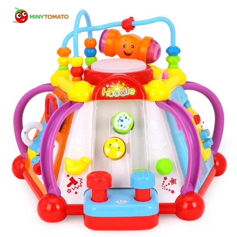 Baby Toy Musical Activity Cube Play Center with Lights 15 Functions & Skills Learning & Educational Christmas Toys No Box wooden bead maze activity center box multi function round beads box cube wood toys unisex kids multipurpose educational toy