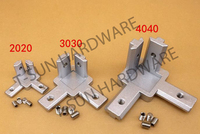 Aluminum T Slot Profile 3 Way 90 Deg Inside Corner Bracket 30x30