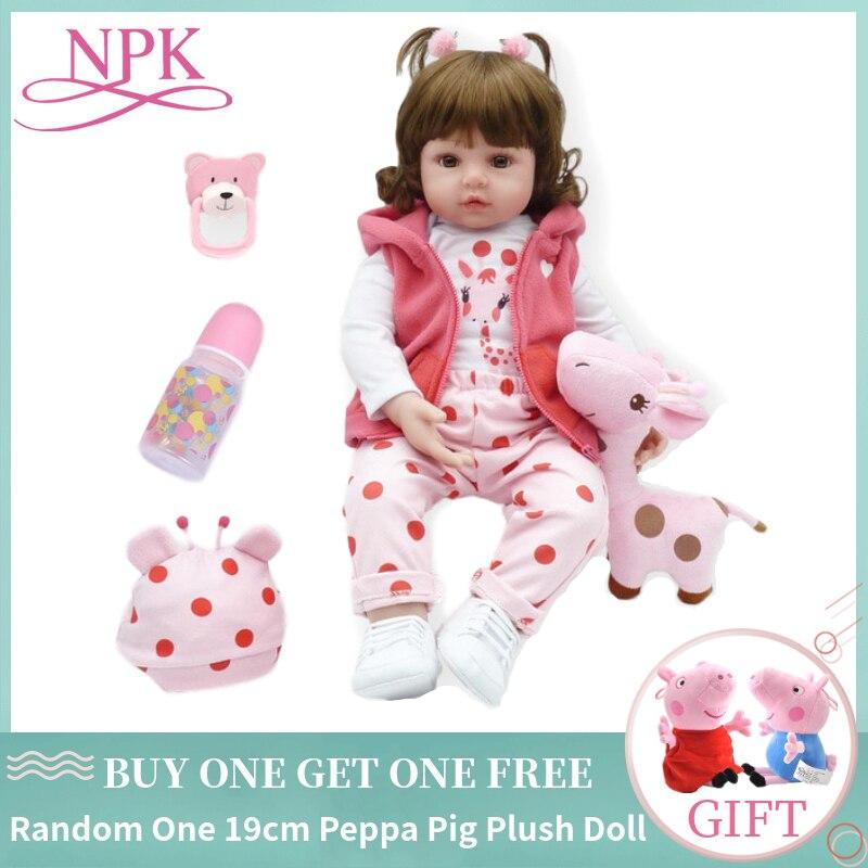 NPK bebes Reborn Doll 47cm Silicone Reborn baby doll Cloth Body Adorable Lifelike toddler Bonecas Girl Kids Birthday Gifts