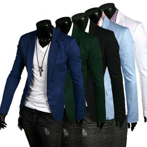 Mens fashion button Business Formal Classic Blazers Slim Fit Suits Men Costume Wedding Suit Male dropshipping top coat