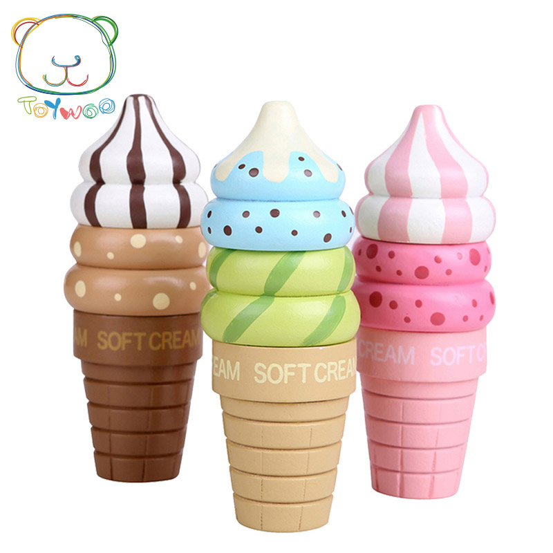 [Toy Woo] Toys Pretend Play Ice Cream Food Toy Kitchen For Children Plastic Play Food Lollipops Orange Juice Toy Gifts