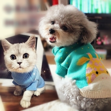 Quality Cat Sweater for Small Dog Pet Cat Sweater Dog Jumper  Dog Clothing Small Dog Pet Clothes XS S M L XL цена