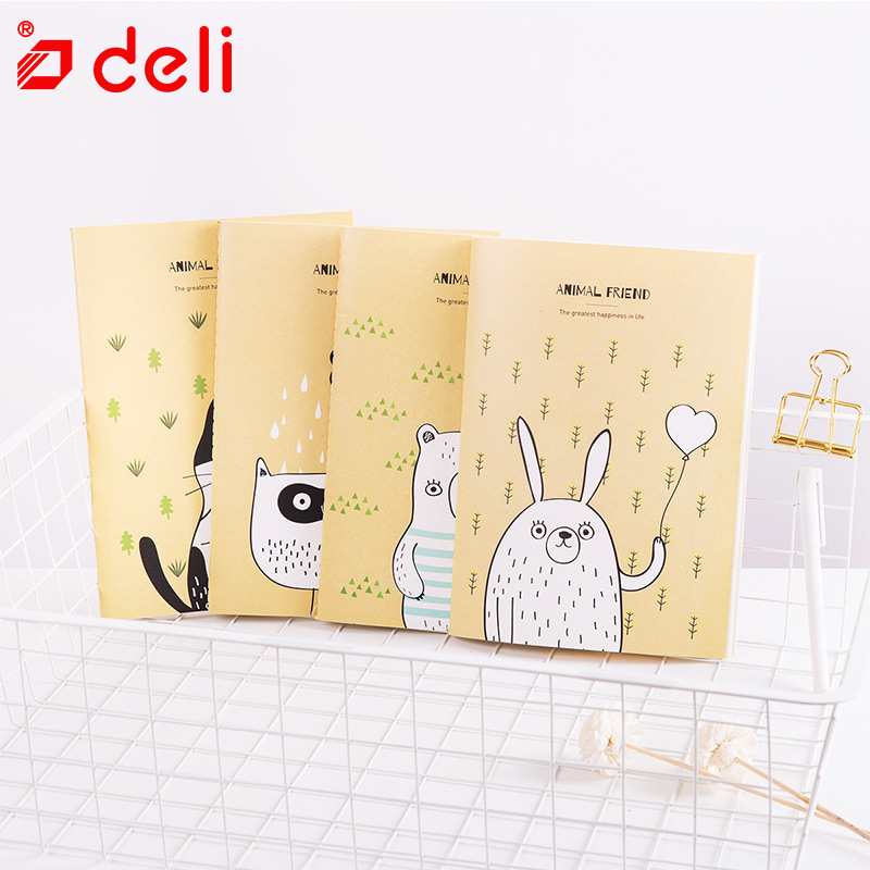 Deli 4pcs School Notebook Diary Hardcover Notebook B5 Student Book Creative Notebooks and Journals 40 Sheets Composition Books get smart 4 student book