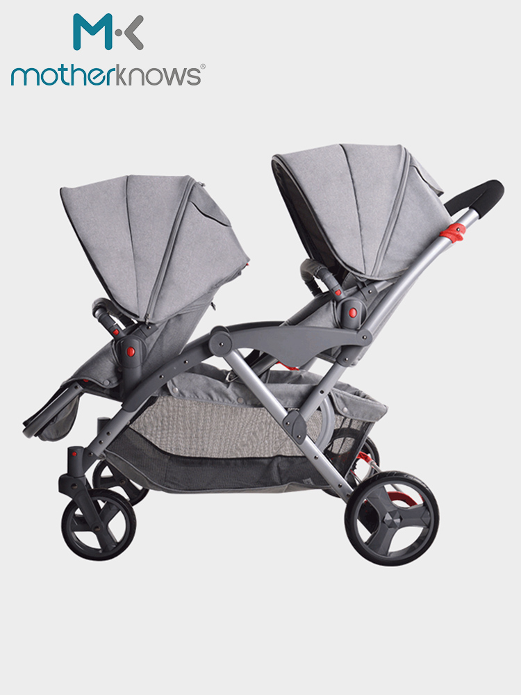 Twin baby strollers can sit and detachable high landscape lightweight stacks of twins and twins twin strollersTwin baby strollers can sit and detachable high landscape lightweight stacks of twins and twins twin strollers