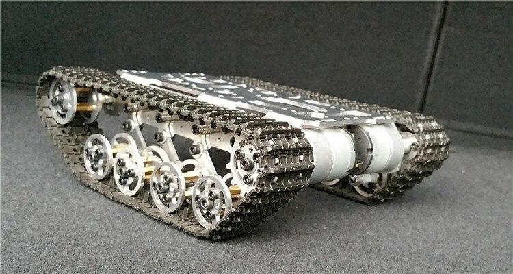 جديد النسخة روبوت خزان السيارة الهيكل حفارات كاتربيلر تسلق عقبة تجنب ل الزاحف الروبوتية نموذج تتبع منصة-في قطع غيار وملحقات من الألعاب والهوايات على  مجموعة 1