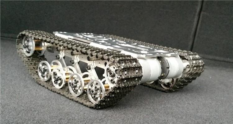 Nowa wersja robota cysterna podwozie gąsienicowe Caterpillar wspinaczka unikanie przeszkód dla gąsienicowe robota Model gąsienicowe platformy w Części i akcesoria od Zabawki i hobby na  Grupa 1