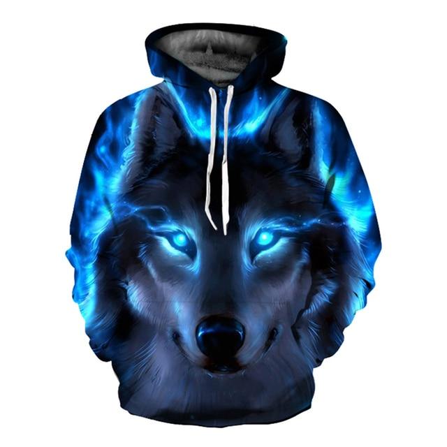 EHUANHOOD 2018 Забавный волк толстовки для мужчин 3D Толстовка Harajuku с капюшоном Аниме Костюм 3D принт пальто Повседневная Куртка Пуловер