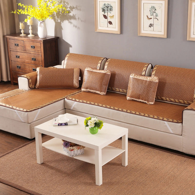 New Summer Cooling Mat Rattan Sofa Cushion Couch Cover