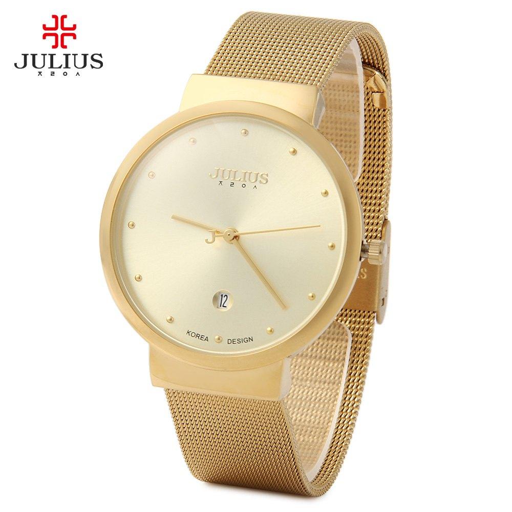 Top Watches Men Luxury Julius Brand Men s Watches Stainless Steel Analog Display Quartz Men Wrist