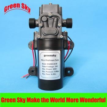 300L/H DC 60W return valve type water diaphragm pump 24v dc 24v 80w 360l h return valve type self priming booster micro diaphragm water pump