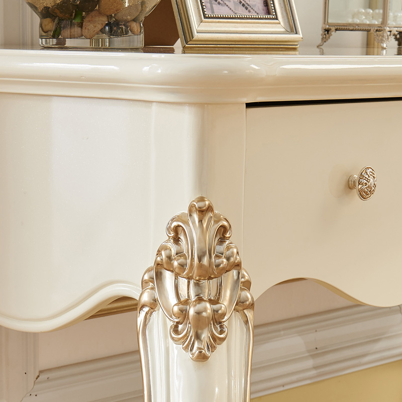European style bedroom ivory white French dressing table