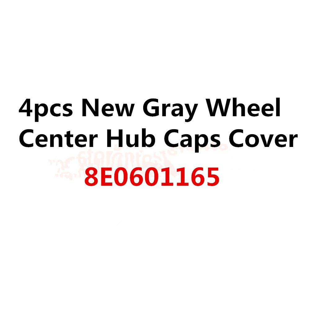 ОЕМ 4шт крышки центра колеса Крышка ступицы серый ,подходит 8E0601165 электронной аппаратуры 8e0 601 165 универсальный для автомобиля