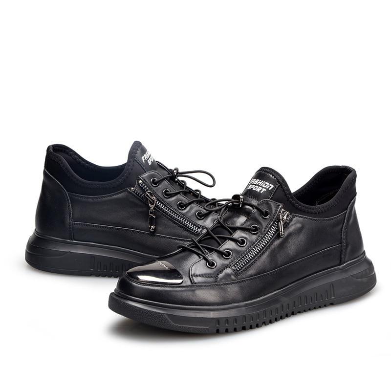 Tênis Sapatos Outono Lazer Dos Verão Mens Do Couro Casuais Homens Respirável Primavera Calçados Moda De Jogo Os Genuíno Da Todos gw7R1P