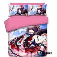 Mxdfafa Anime DATE A LIVE Printed  Comforter Bedding Sets Duvet Cover Set 3pc Include 1 and 2 Dakimakura Covers