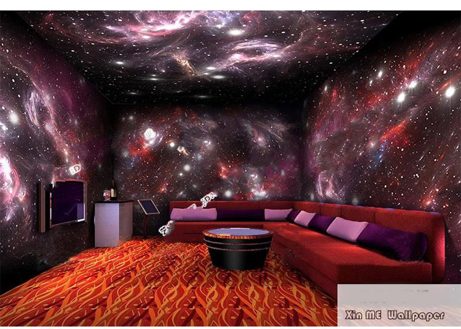 4 Styles Star Starry Night Sky Space 3D Wallpaper Mural Roll Hotel Restaurant Living Room Cafe Bar KTV Background Decor 3d rock n roll music it s my time any size custom wallpaper mural rolls hotel restaurant coffee bar ktv living room background