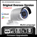 HIKVISION DS-2CD2042WD-I(4mm) Original Oversea Version IP camera 4MP CCTV Camera POE Network camera P2P H265 Onvif HD HIK cam