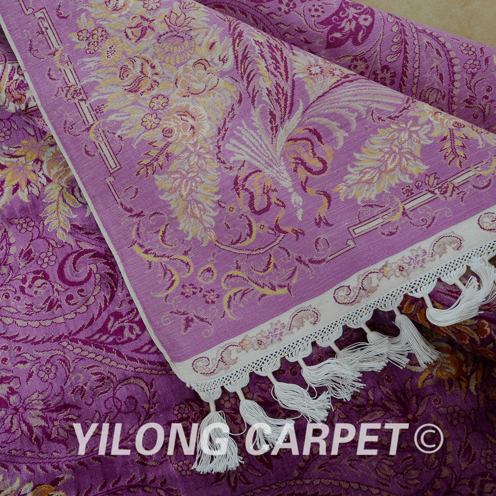 Yilong 6.56'x9.84 'Галерия килимче лилав - Домашен текстил - Снимка 6