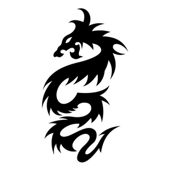 car sticker dragon tribal vinyl side graphic decal Motorcycle SUVs Bumper Car Window Laptop Car Stylings image