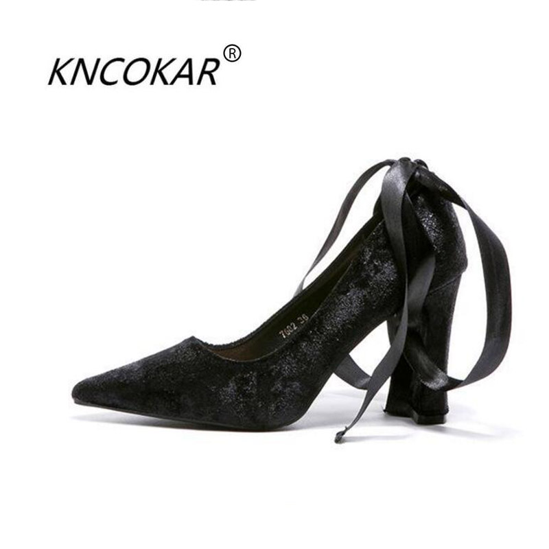 KNCOKAR 2018 Spring and summer new fashionable sexy elegant female pointy head shallow velvet and high heels 6cm 8cm 10cmKNCOKAR 2018 Spring and summer new fashionable sexy elegant female pointy head shallow velvet and high heels 6cm 8cm 10cm