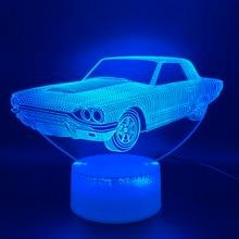 Cool 3D Illusion Led Night Light Lamp Vintage Car Lampara Office Room Deco Hologram Gift for Kid Child Nightlight Retro
