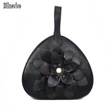 DIINOVIVO Multifunction Floral Women Shoulder Bags Luxury PU Leather Crossbody Bags Simple Fashion Handbags Lovely Bags CVHB0379