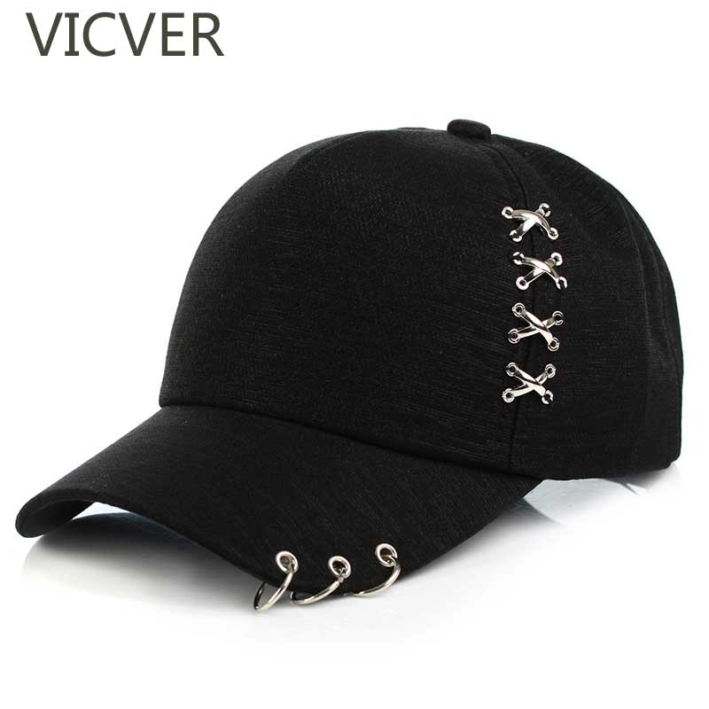 2019 Dad Hat Iron Ring   Baseball     Cap   Summer Sports   Caps   Women Men Hip Hop Snapback Hats Unisex Solid Color Adjustable Outdoor Hat