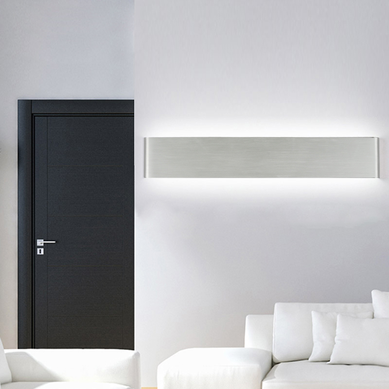 Nordic minimalist modern bedroom LED bedside lamp aluminum wall lamp creative staircase aisle bathroom mirror front lamp led стоимость